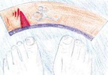 Zeichnung einer Waage
