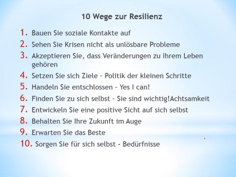 10 Wege zur Resilienz