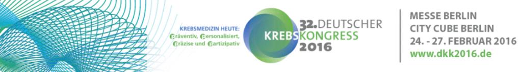 Krebskongress-Banner
