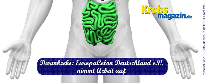 160419 Darmkrebs_EuropaColon Deutschland eV nimmt Arbeit auf